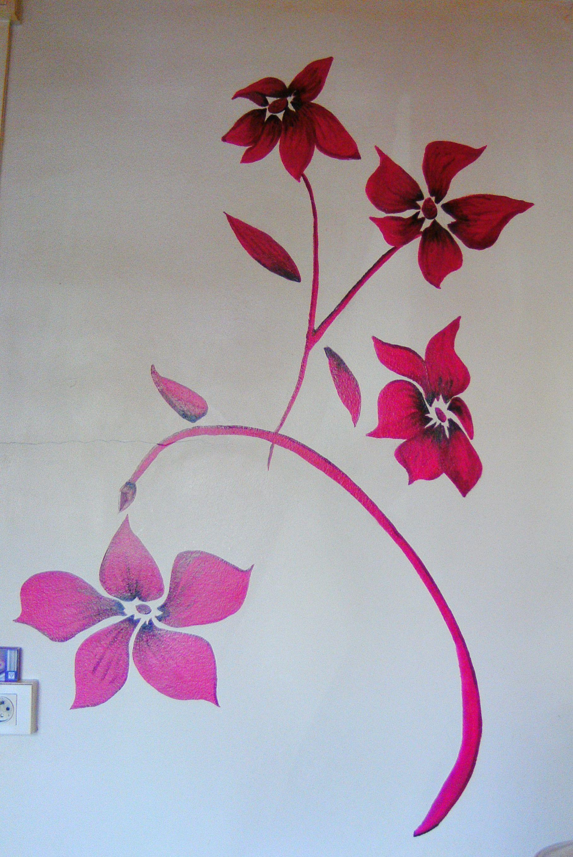 fleurs murales. Black Bedroom Furniture Sets. Home Design Ideas